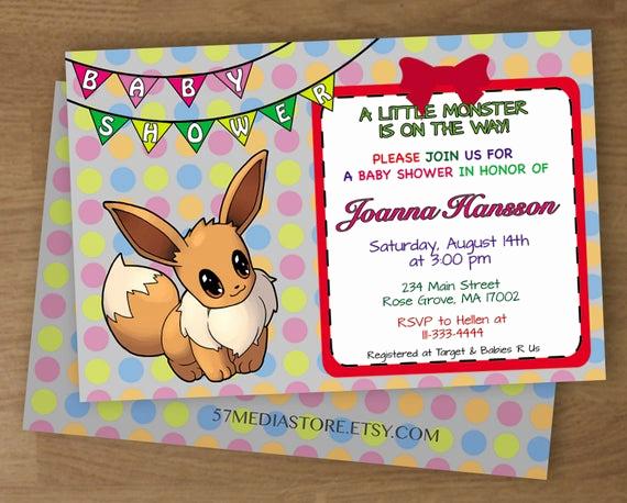 Pokemon Card Birthday Invitation New Pokemon Birthday Party Printable Invitations Page Three