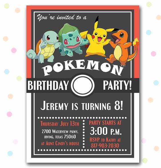 Pokemon Card Birthday Invitation Unique 12 Superb Pokemon Birthday Invitations