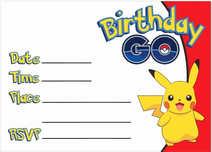 Pokemon Invitation Template Free Awesome 23 Free Printable Birthday Invitations Downloadable