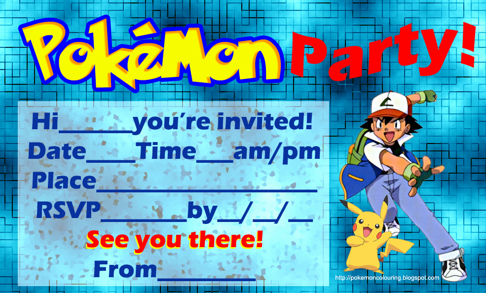 Pokemon Invitation Template Free Awesome Pokemon Coloring Pages
