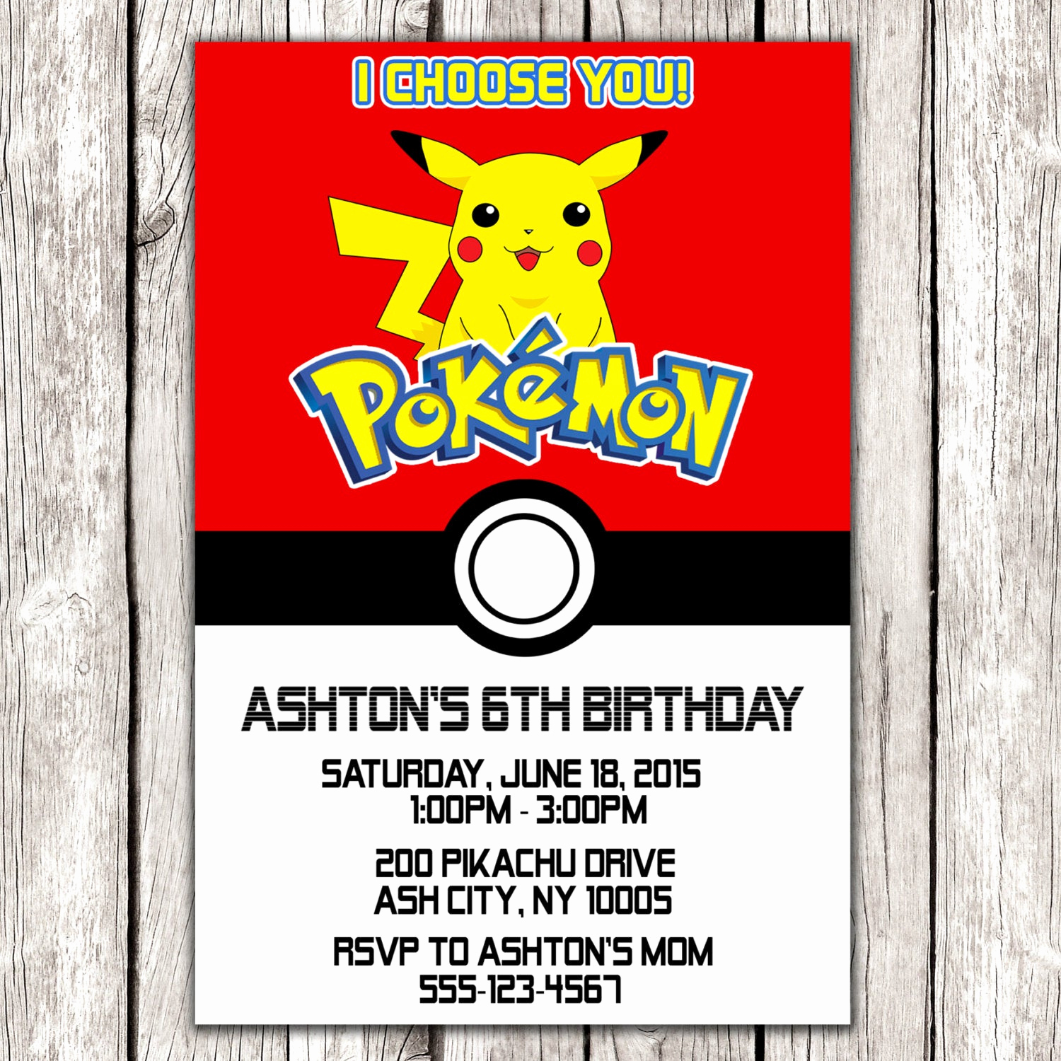 Pokemon Invitation Template Free Awesome Pokemon Invitation Pokemon Birthday Party Diy Printable