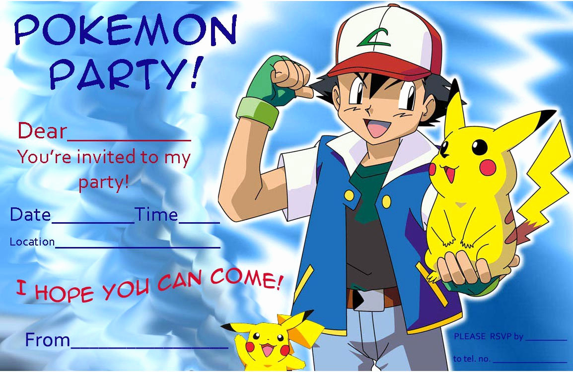 Pokemon Invitation Template Free Fresh November 2018 – Birthday Invitations