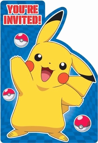 Pokemon Invitation Template Free Fresh Pokemon Invitations Pokemon Party