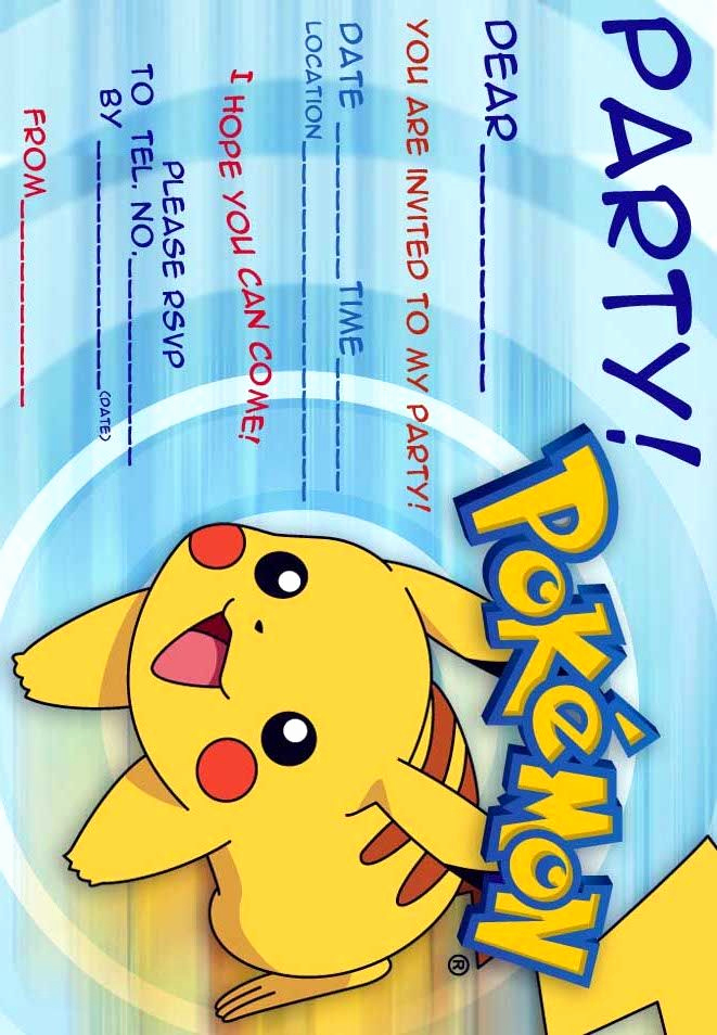 Pokemon Invitation Template Free Inspirational 12 Superb Pokemon Birthday Invitations