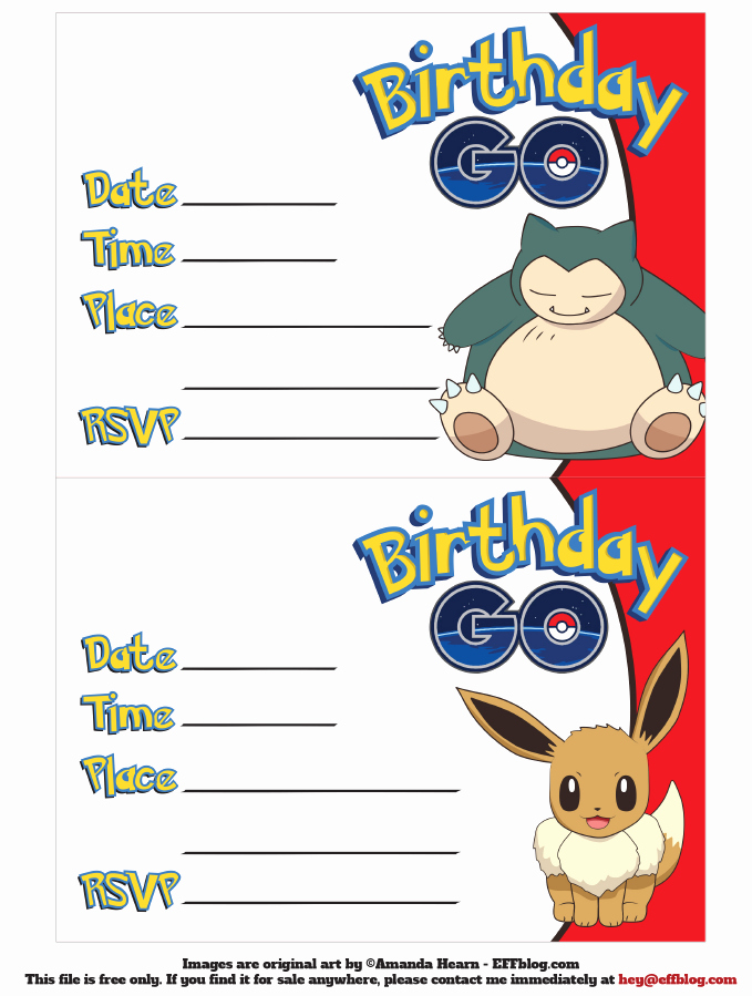Pokemon Invitation Template Free Luxury Go Free