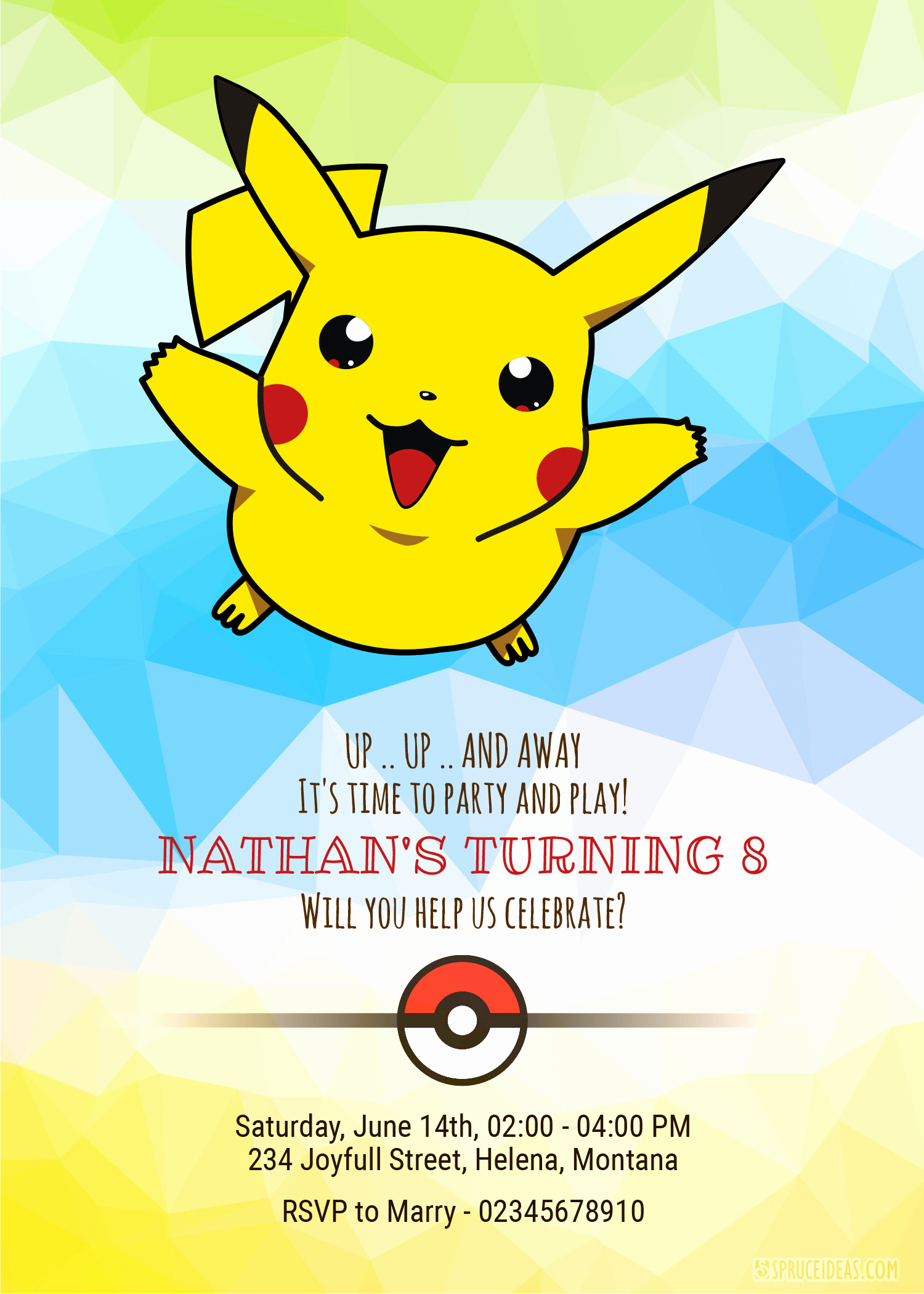 Pokemon Invitation Template Free Unique Personalized Pikachu Pokemon Birthday Invitation Template