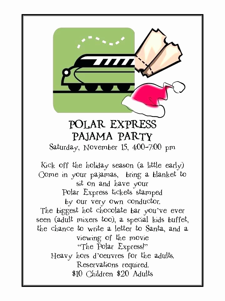 Polar Express Invitation Template Unique Polar Express Party Invitations Printable