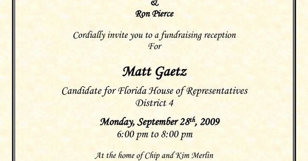 Political Fundraiser Invitation Wording Elegant Political Fundraiser Flyer