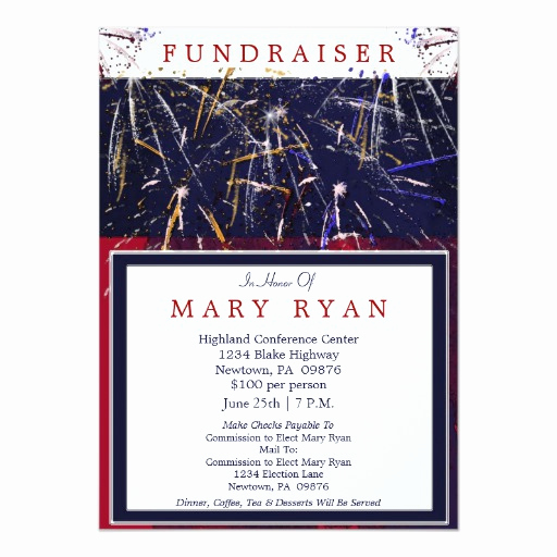 Political Fundraiser Invitation Wording Fresh Patriotic Political Fundraiser Invitation