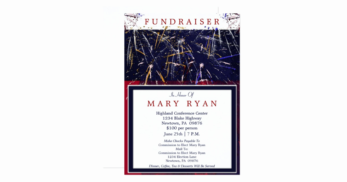 Political Fundraiser Invitation Wording Inspirational Patriotic Political Fundraiser Invitation