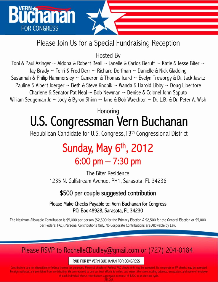 Political Fundraiser Invitation Wording Inspirational Political Fundraiser Invitations