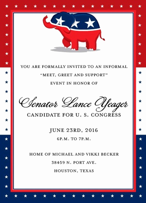 Political Fundraiser Invitation Wording Inspirational Republican Party Fundraising Invitation Political