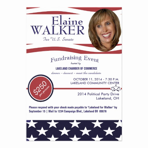 Political Fundraiser Invitation Wording New Political Fundraiser Invitation with