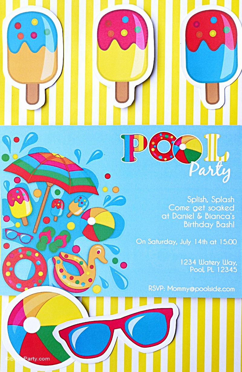 Pool Birthday Party Invitation Fresh Pool Party Ideas & Kids Summer Printables Party Ideas