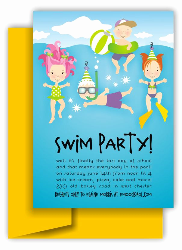 Pool Birthday Party Invitation Inspirational Swim Party Invitation Brayla S 3rd In 2019