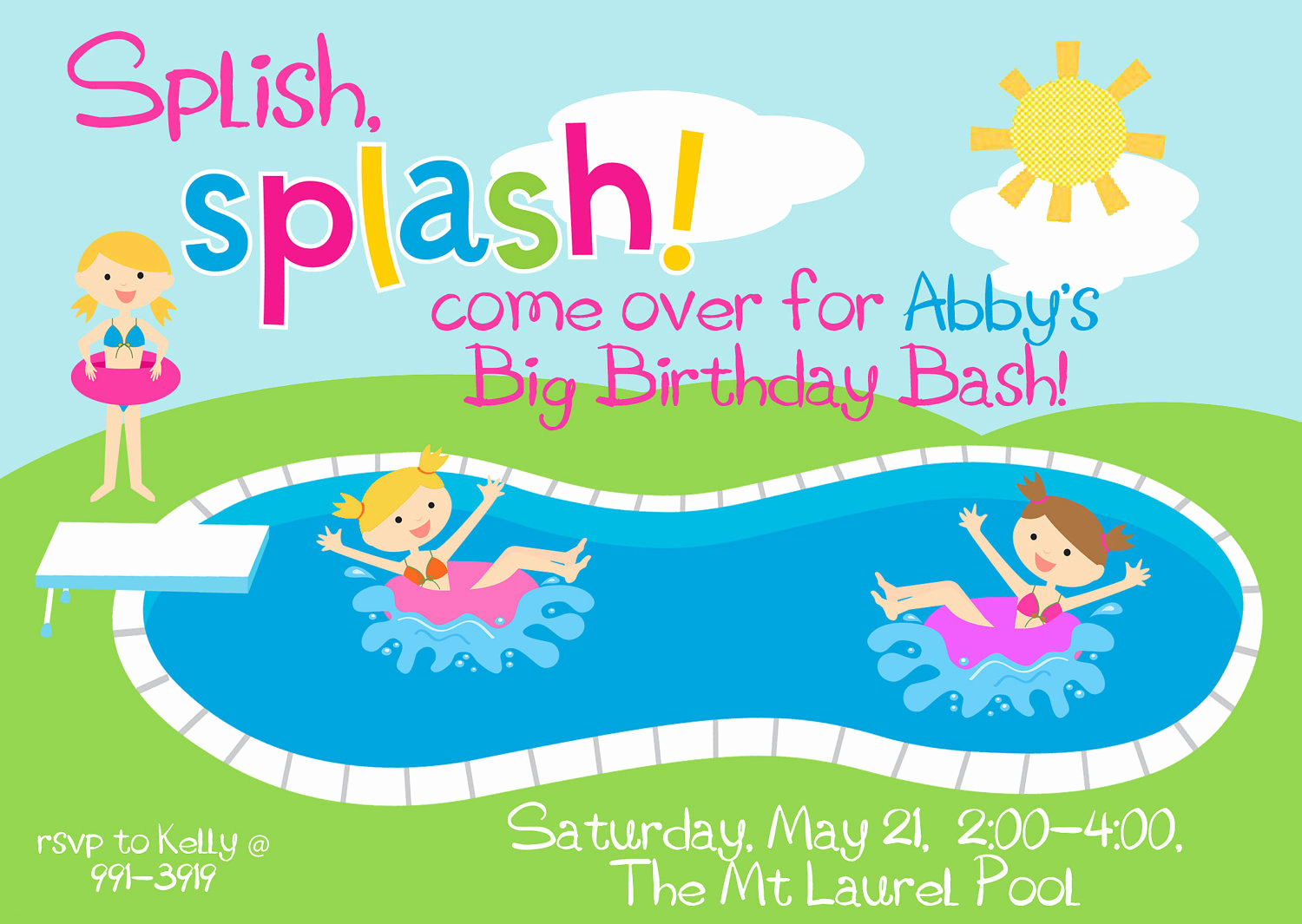 Pool Birthday Party Invitation Luxury Pool Party Birthday Party Invitation Splish by