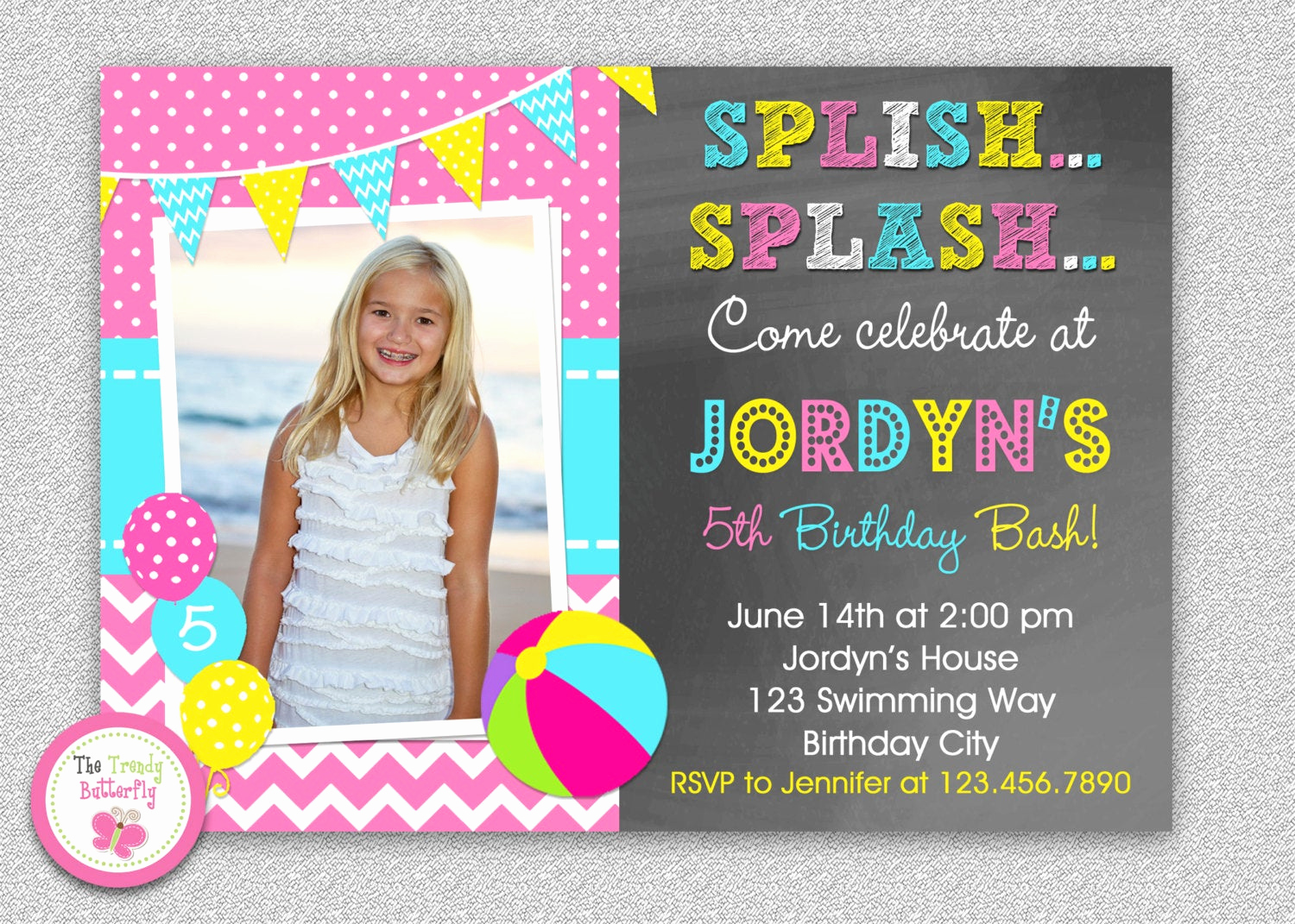 Pool Birthday Party Invitation New Pool Party Birthday Invitation Pool Party Invitations
