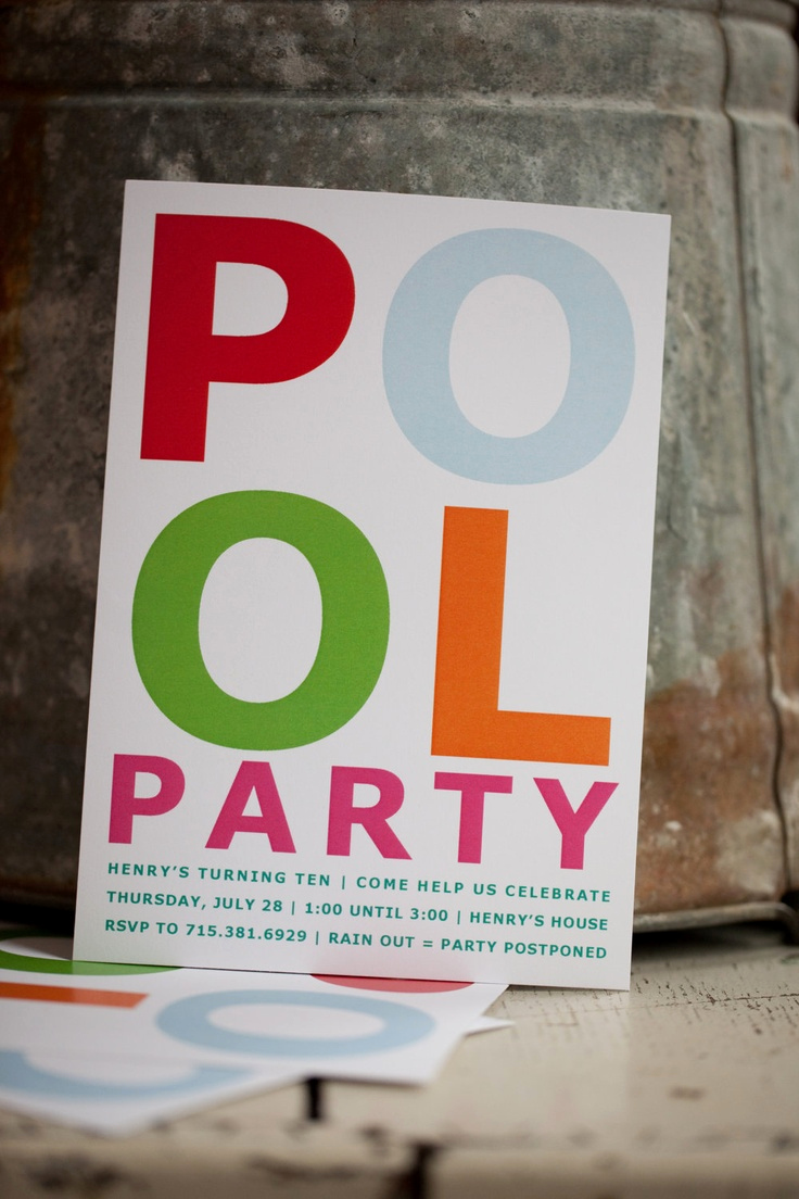 Pool Party Invitation Ideas Awesome 25 Best Pool Party Invitations Images On Pinterest