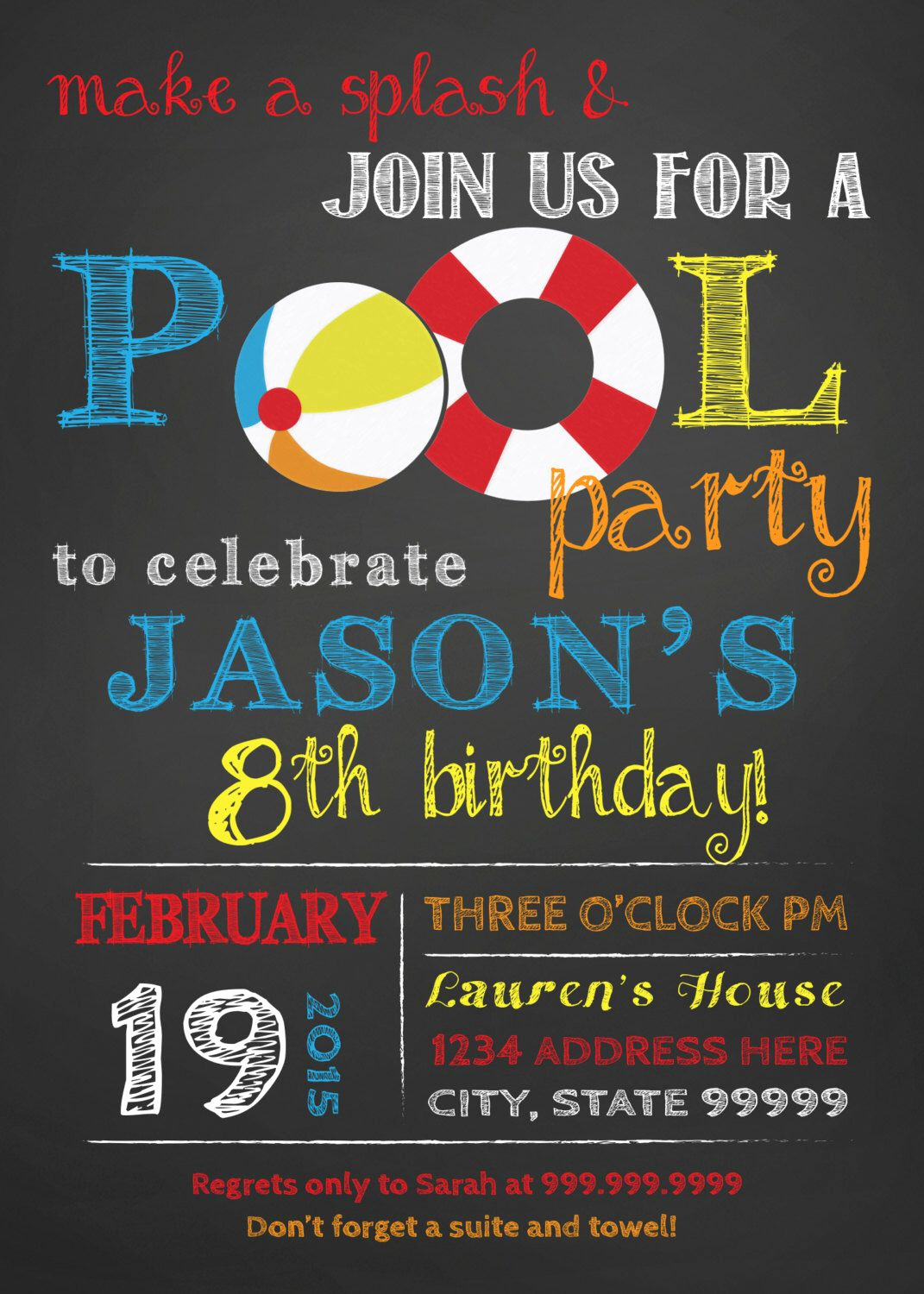 Pool Party Invitation Ideas Awesome Pin by Silver Line Design Team Sldt On Boy Birthday Party