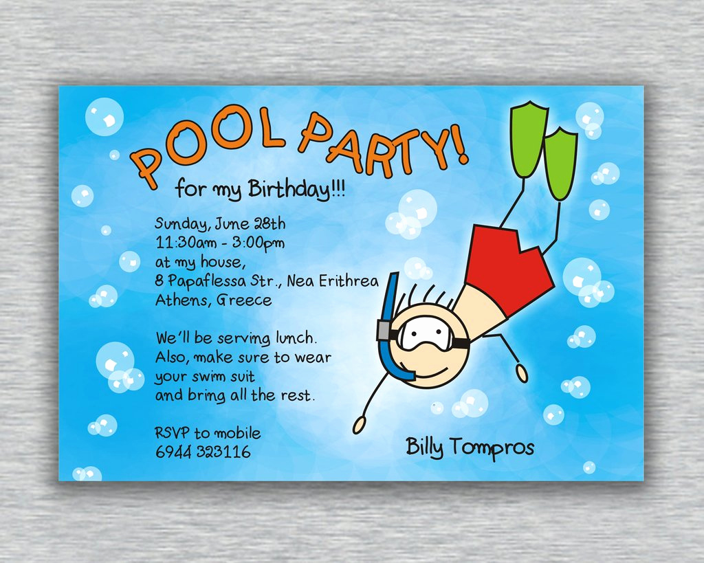 Pool Party Invitation Ideas Beautiful Pool Party Invitation Ideas
