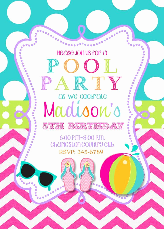 Pool Party Invitation Ideas Elegant Best 25 Swim Party Invitations Ideas On Pinterest