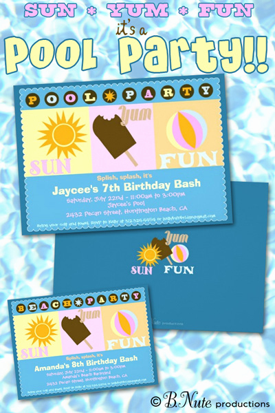 Pool Party Invitation Ideas Fresh Bnute Productions Pool Party Invitations and Party Ideas