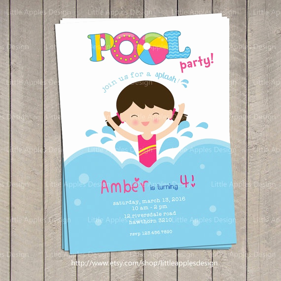 Pool Party Invitation Ideas New 17 Best Ideas About Swim Party Invitations On Pinterest