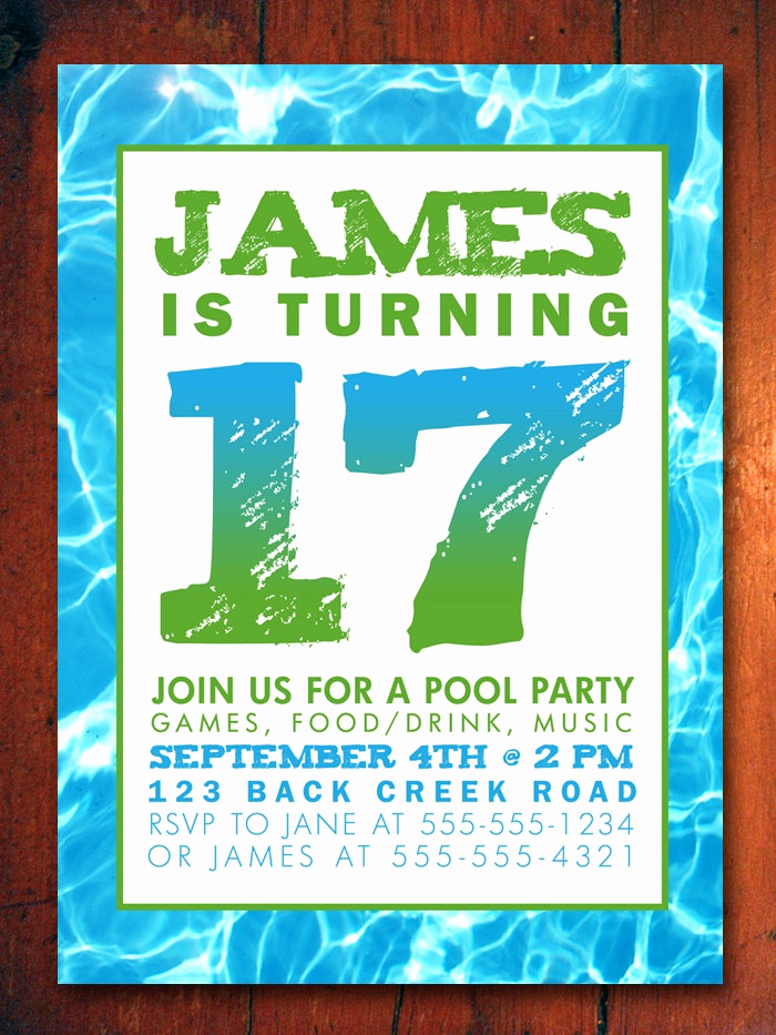 Pool Party Invitation Ideas Unique 17 Best Images About Sweet 16 Pool Party On Pinterest