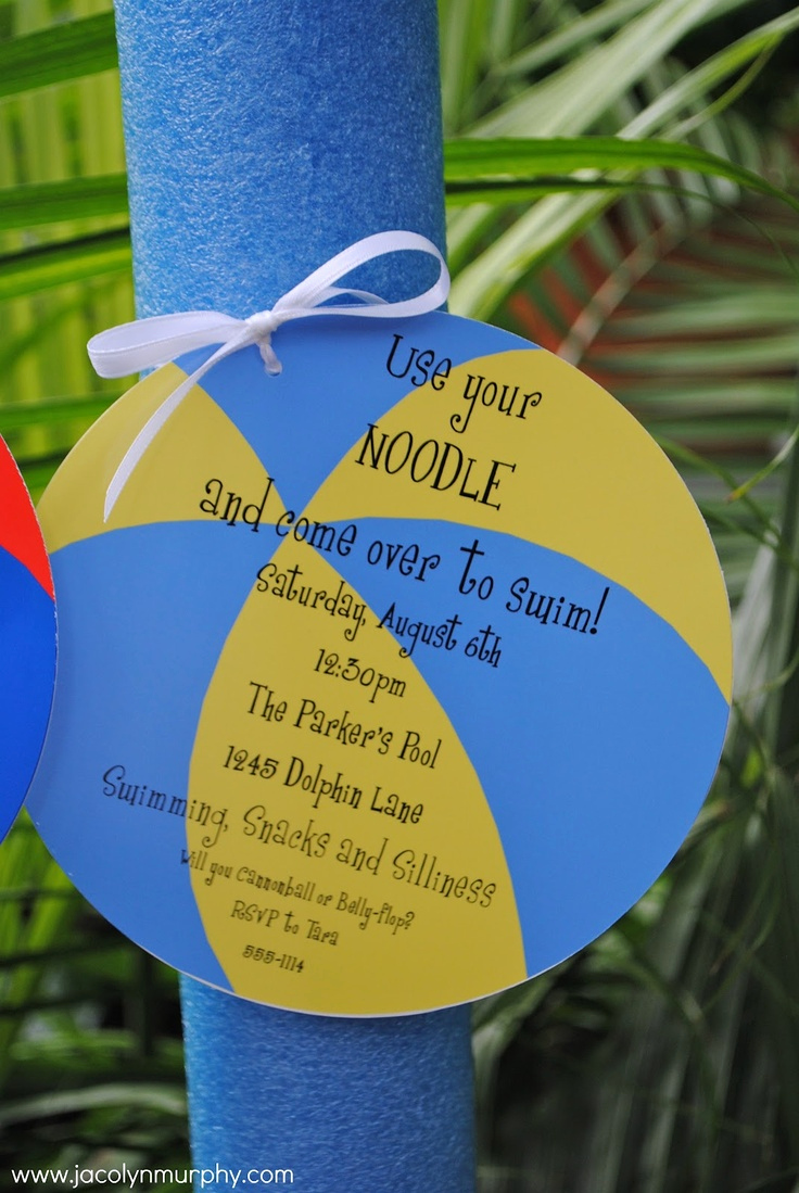 Pool Party Invitation Ideas Unique Best 25 Swim Party Invitations Ideas On Pinterest