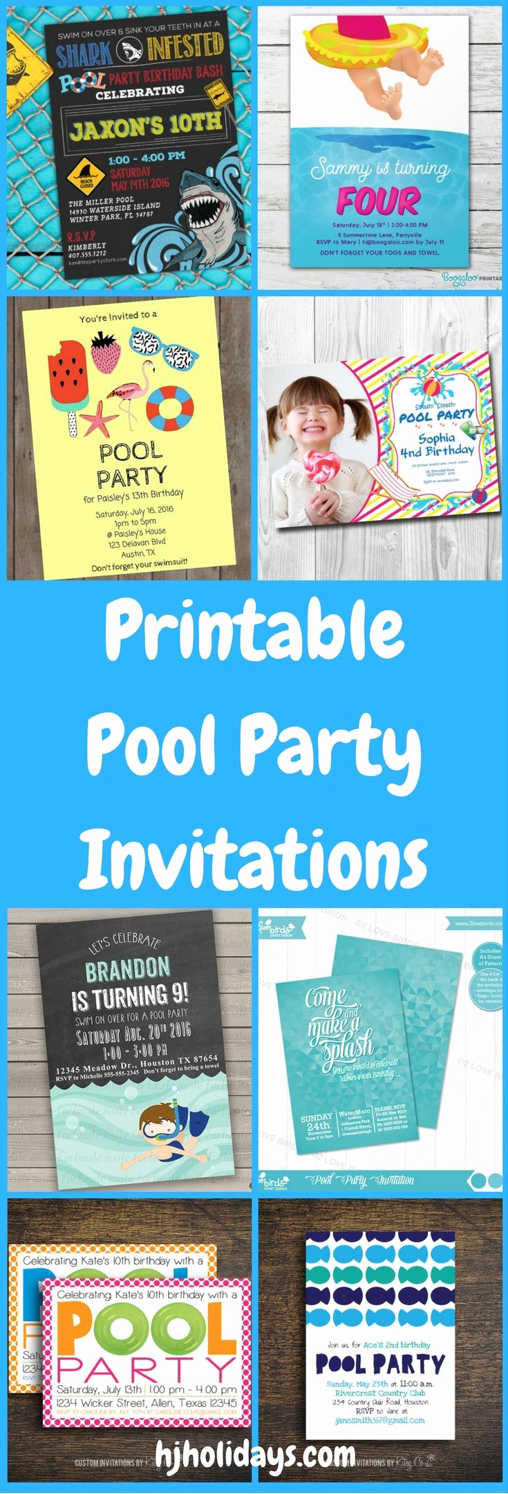 Pool Party Invitation Ideas Unique Printable Pool Party Invitations for Kids