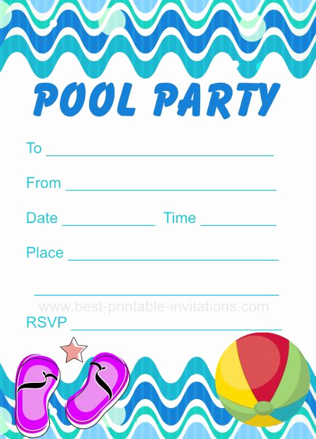 Pool Party Invitation Template Awesome Printable Pool Party Invitation