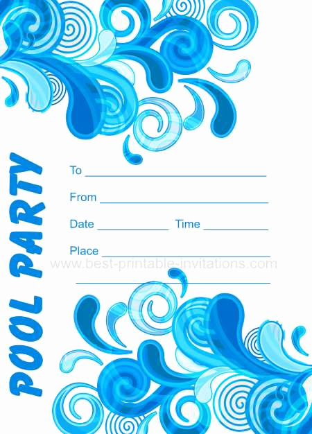 Pool Party Invitation Template Beautiful Adult Pool Party Invitations