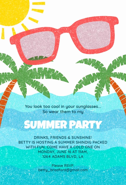 Pool Party Invitation Template Beautiful Pool Party Invitation Templates Free