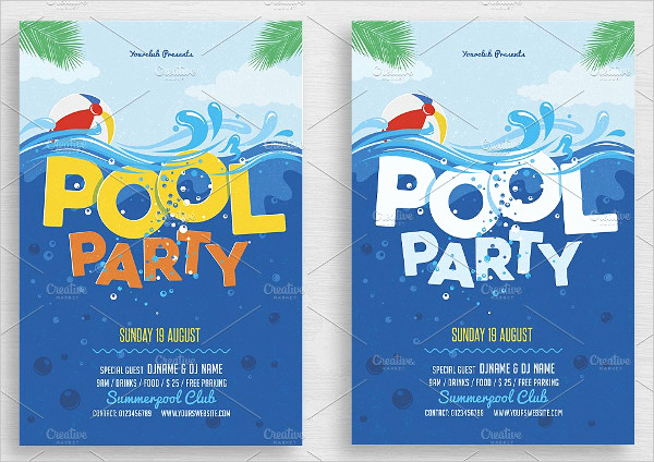 Pool Party Invitation Template Best Of 33 Printable Pool Party Invitations Psd Ai Eps Word