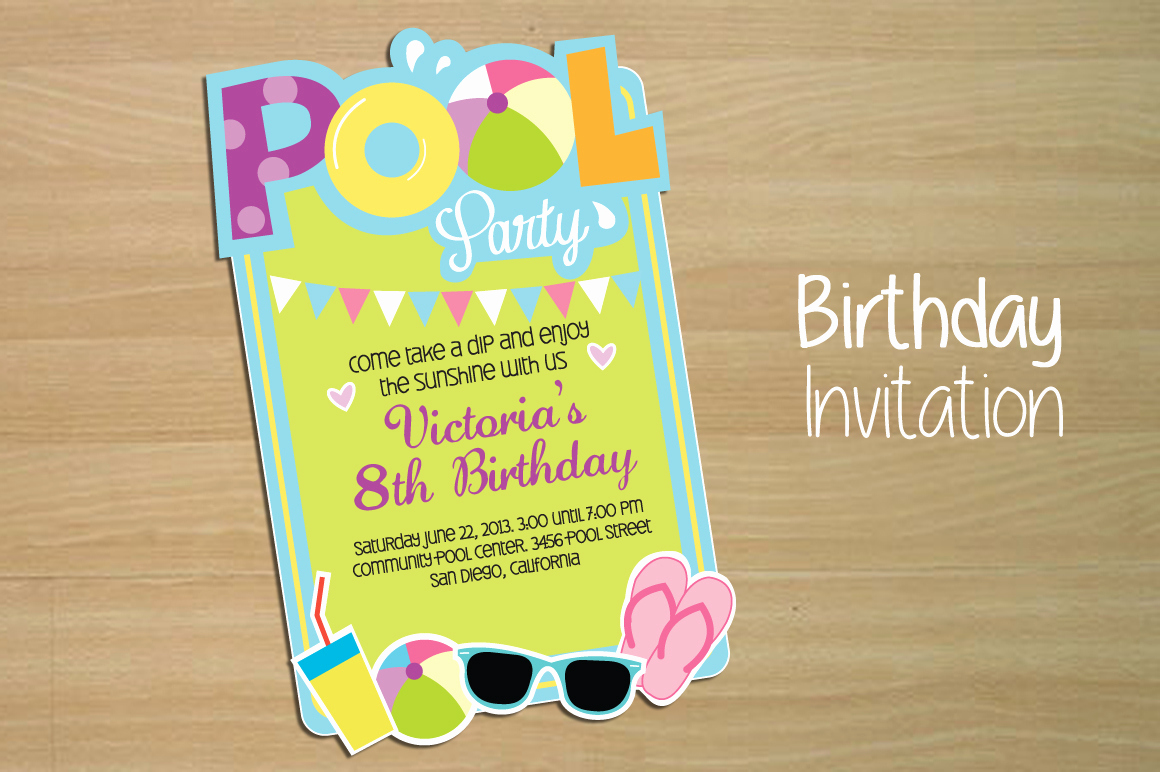 Pool Party Invitation Template Best Of Invitation Pool Party Invitation Templates On Creative