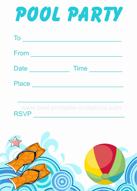 Pool Party Invitation Template New 45 Pool Party Invitations