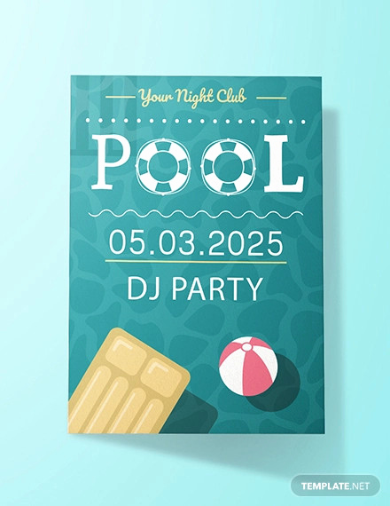 Pool Party Invitation Templates Awesome 36 Pool Party Invitation Templates Psd Ai Word