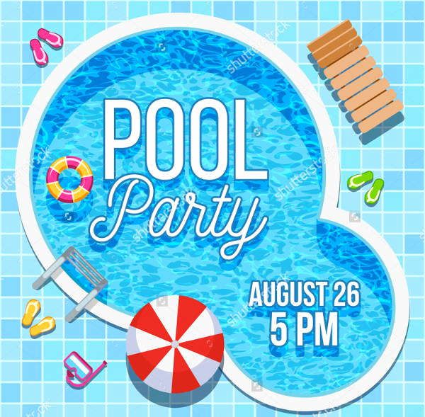 Pool Party Invitation Templates Awesome 7 Blank Party Invitations Free Editable Psd Ai Vector