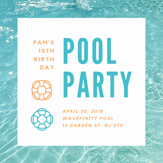 Pool Party Invitation Templates Awesome Customize 3 999 Pool Party Invitation Templates Online