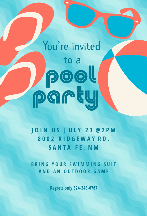 Pool Party Invitation Templates Awesome Pool Party Stuff Pool Party Invitation Template Free