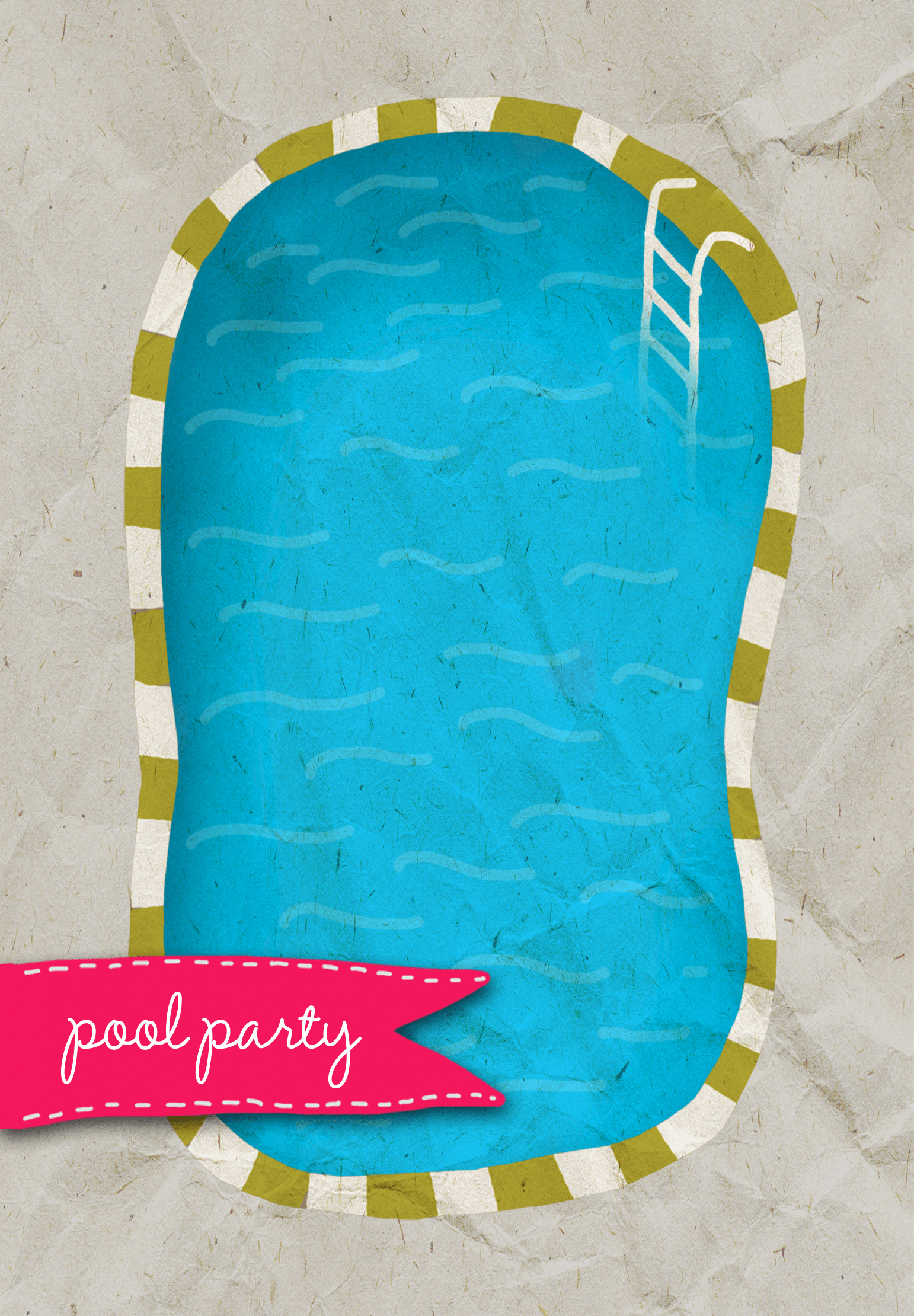 Pool Party Invitation Templates Beautiful A Pool Free Printable Summer Party Invitation Template