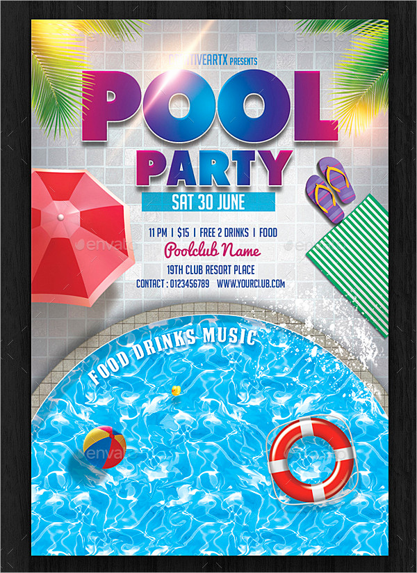 Pool Party Invitation Templates Elegant 33 Printable Pool Party Invitations Psd Ai Eps Word