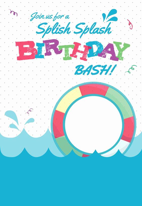 Pool Party Invitation Templates Fresh Splish Splash Free Printable Summer Party Invitation