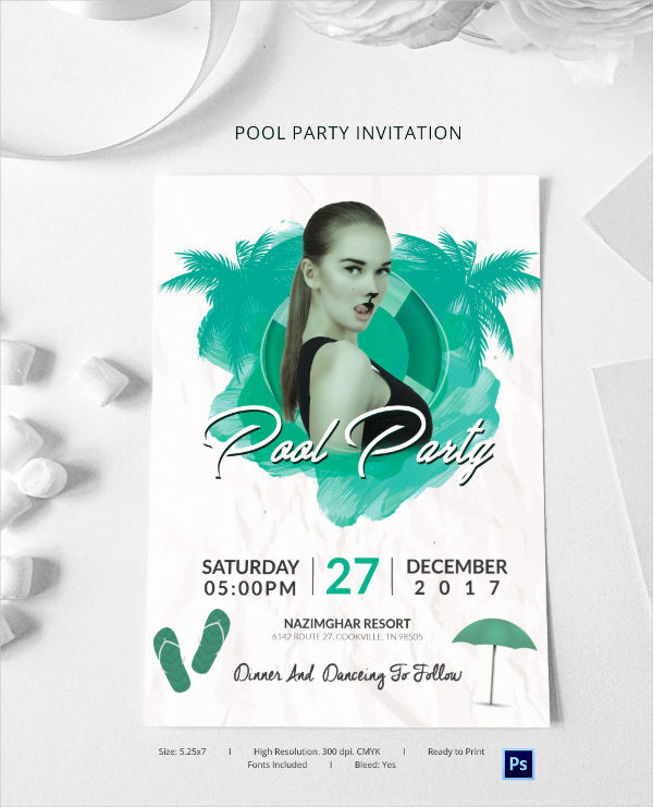 Pool Party Invitation Templates Lovely Pool Party Invitation Template 37 Free Psd format