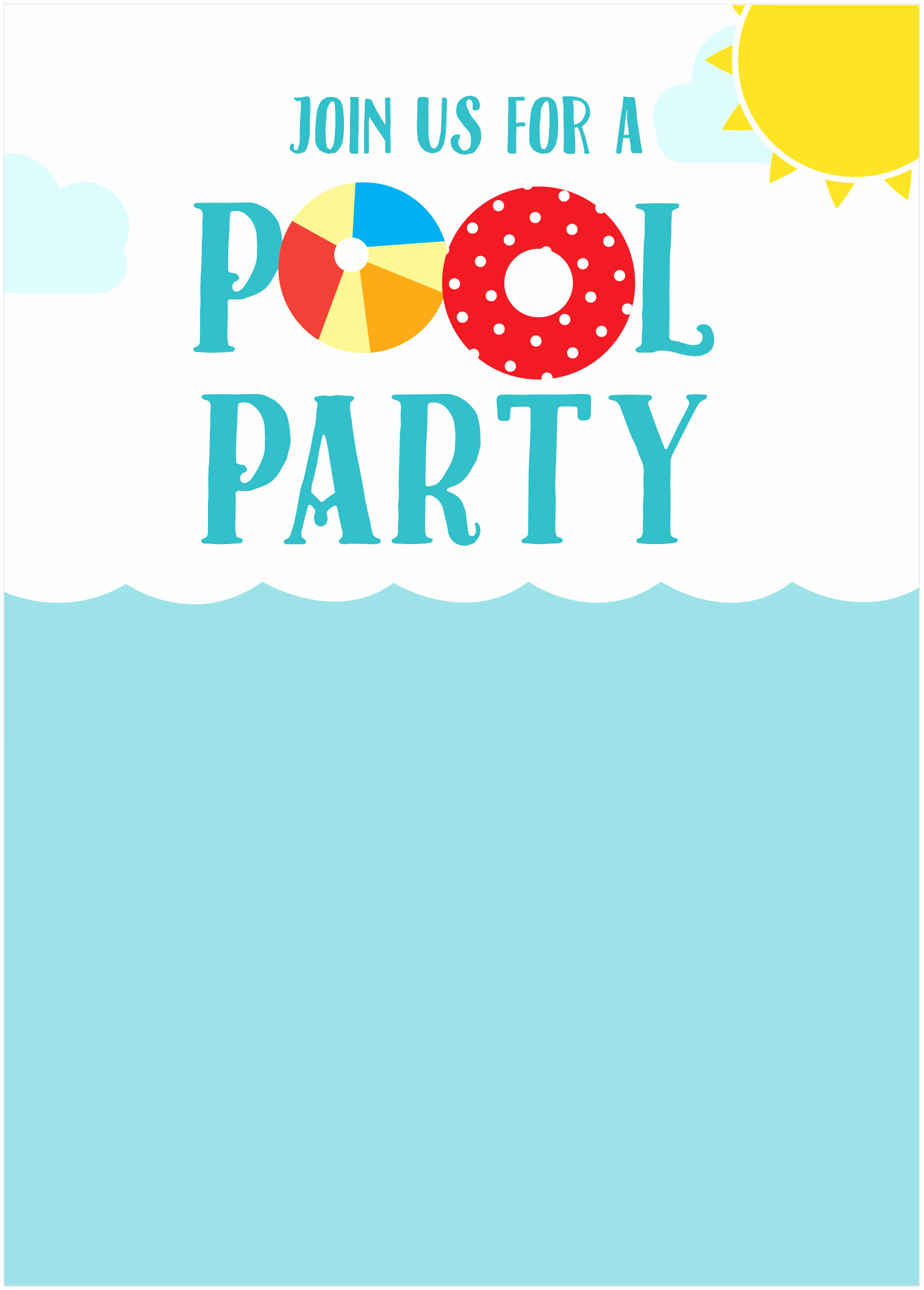 Pool Party Invitation Templates Luxury 45 Pool Party Invitations