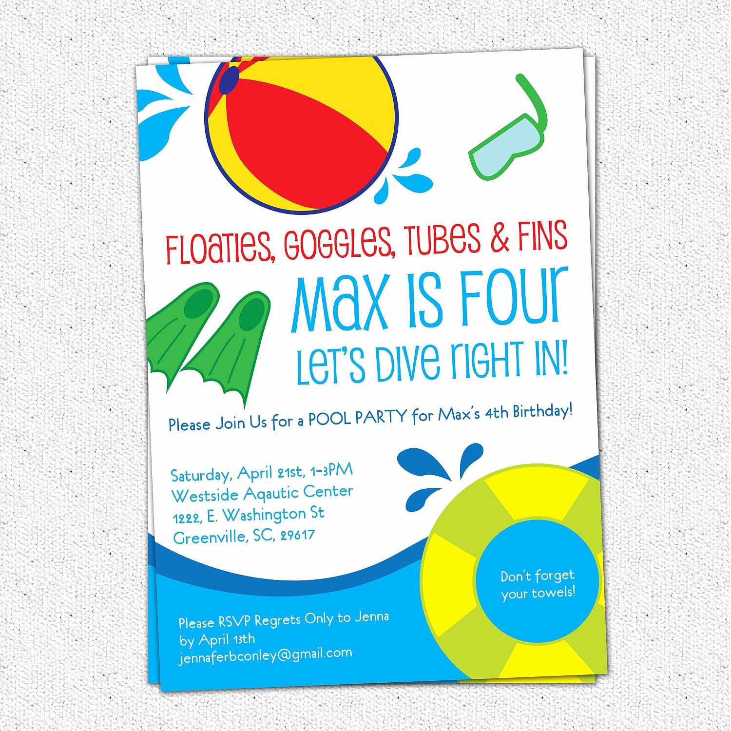 Pool Party Invitation Wording Awesome Printable Kids Pool Party Invitation Wording