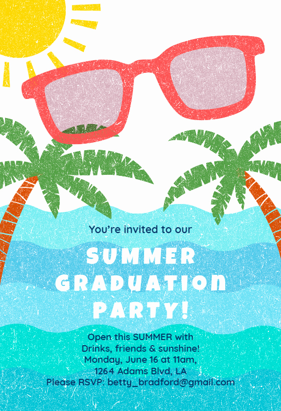 Pool Party Invitation Wording Awesome Summer Graduation Party Graduation Party Invitation