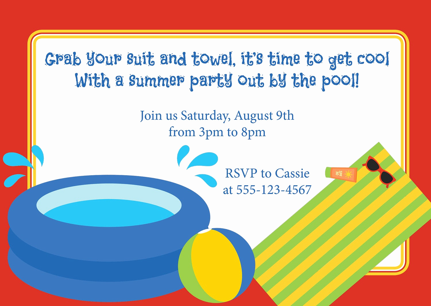 Pool Party Invitation Wording Fresh Pool Party Invitation Birthday Kid S Party Luau