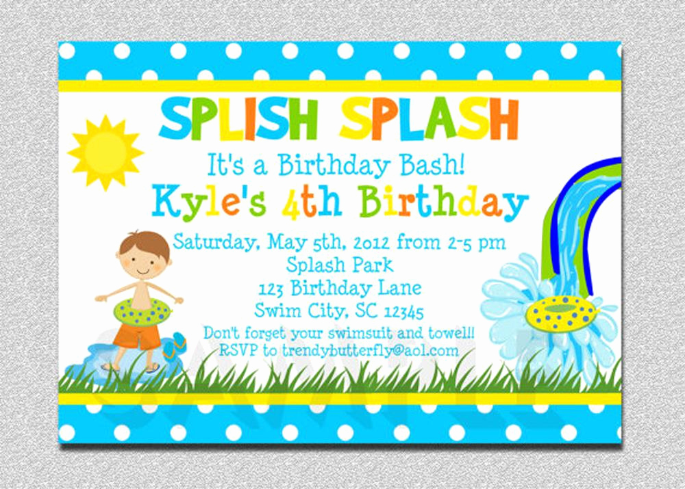 Pool Party Invitation Wording Luxury 18 Birthday Invitations for Kids – Free Sample Templates