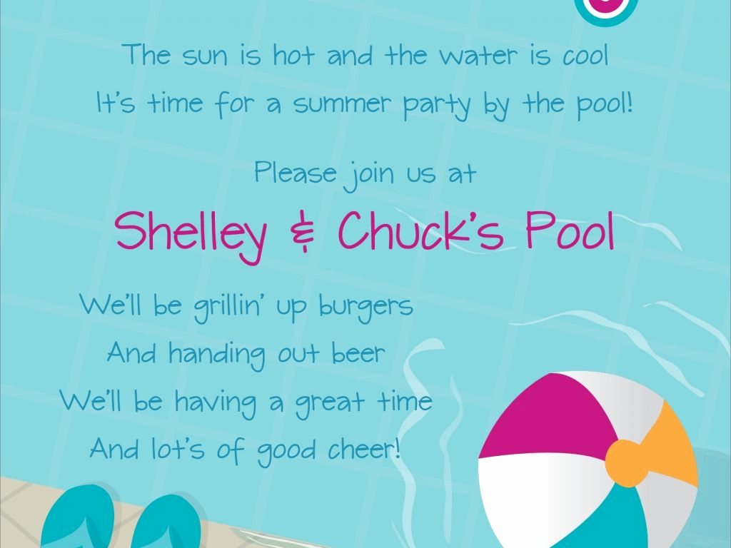 Pool Party Invitation Wording Luxury Kids Pool Party Invitation Wording Cobypic
